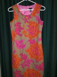 New Direction Lined Linen dress Size 4P